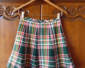 1960s adorable pleated plaid bobbie brooks mini skirt - etiquettegirl
