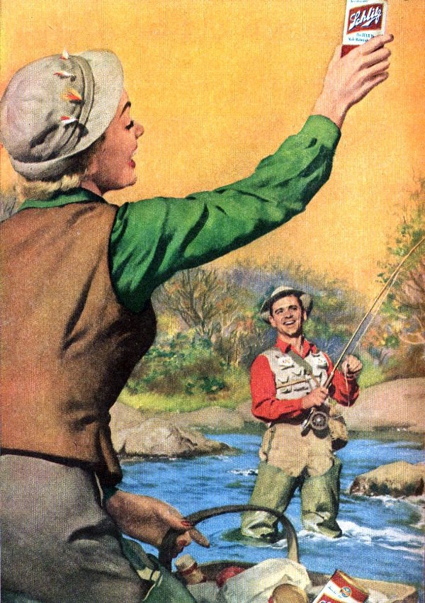 1000 images about vintage fly fishing ads on pinterest for Women s fishing waders