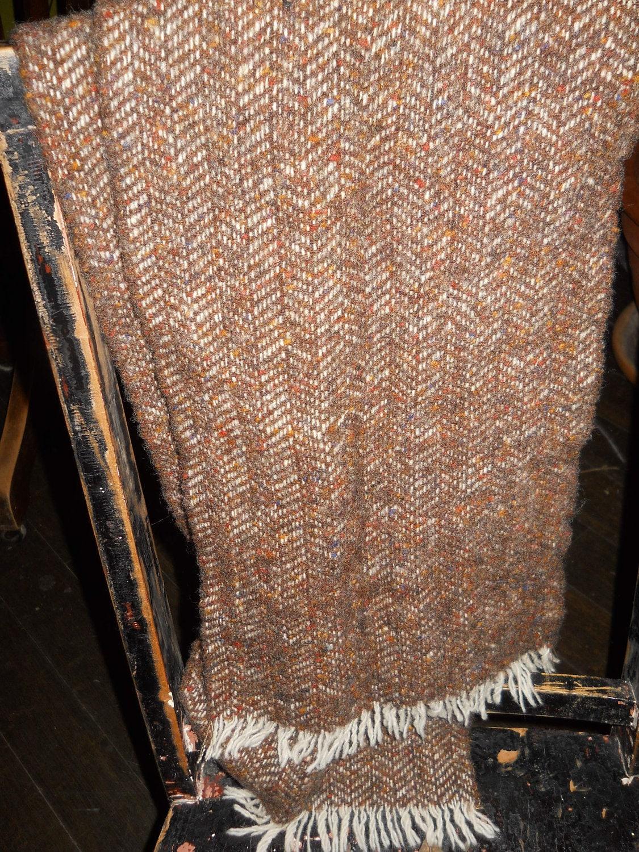 vintage wool scarf HATS of IRELAND by staircasetotheattic on Etsy Handmade Scarves Ireland