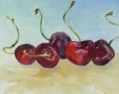 Cherries - original oil painting