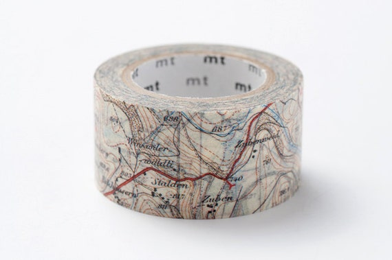 MT ex 2012 Autumn NEW- Japanese Washi Masking Tape / Map