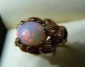 10k Gold Opal Ring Australian Solid Opal 4 grams