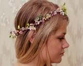 Pink Garden Fairy Jewel Nature Crown - neesiedesigns