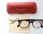 Vintage 60's Brown Tortoiseshell Horn Rimmed Glasses - vommeervintage