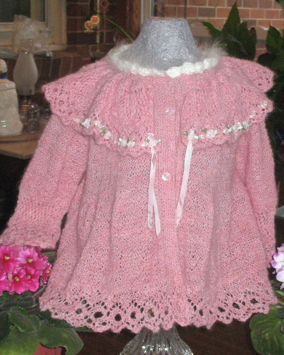 Pink Victorian Christmas Sweater/ style 020112