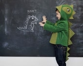 Kids Coat: Cheeky Green Dinosaur