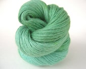 WITCH Hand Dyed Yarn Merino, Alpaca and Silk DK Green - spinningmulefibers