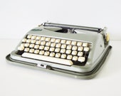 Vintage Typewriter - Green Cole Steel Portable Typewriter - thewhitepepper