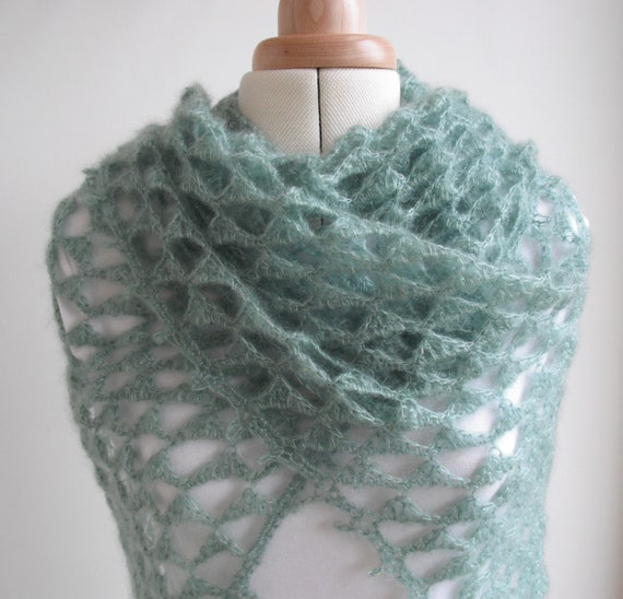 Angel's Triangles Shawl PDF crochet pattern