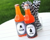 DIY Printable Halloween Bottle Wraps - 2 designs - partypapers