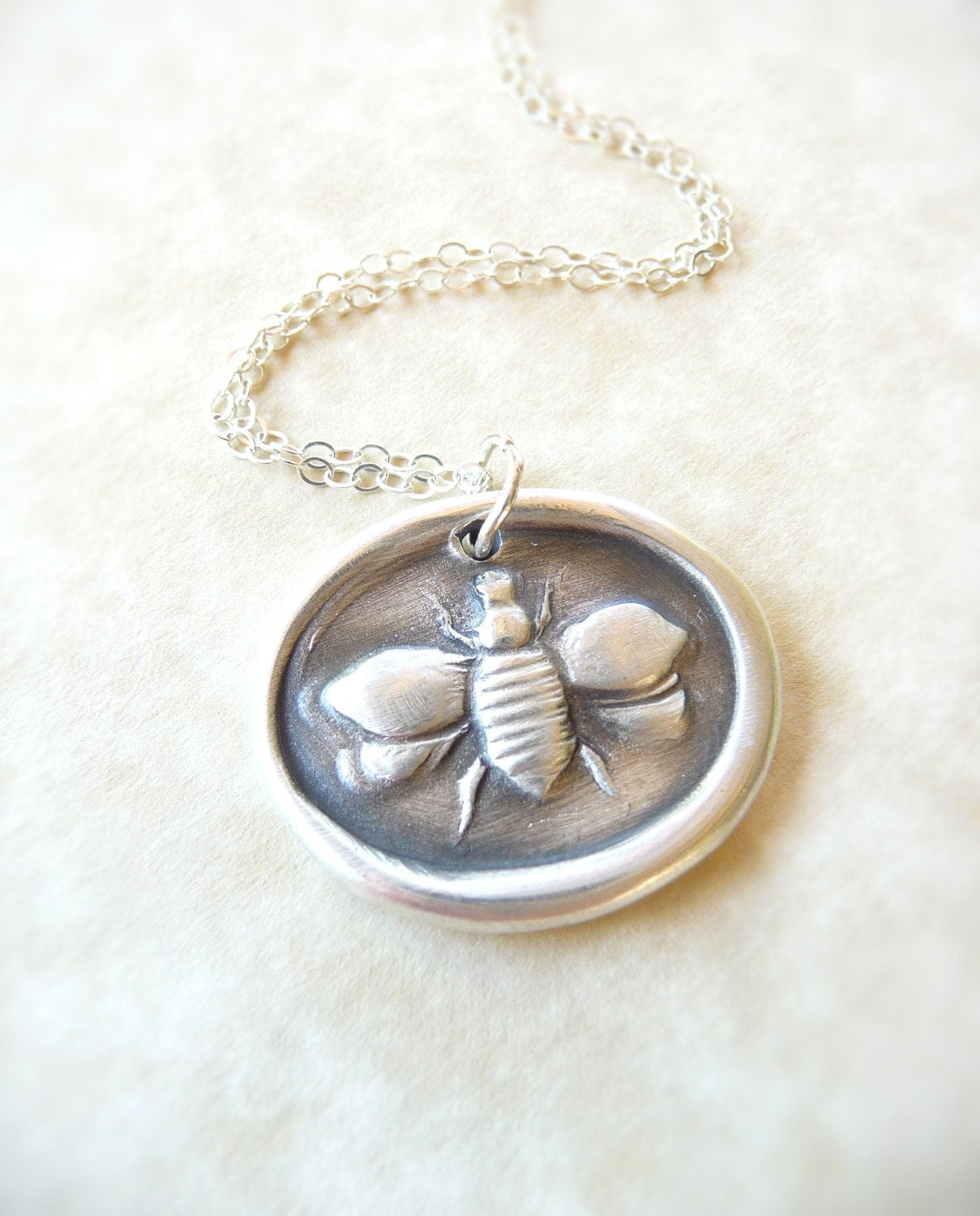Seal Necklace on Bee Wax Seal Necklace Pendant Jewelry Made From By Dreamofadream