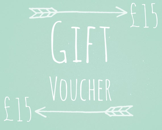 Gift Voucher Valued at 15 Pounds - Gift Card, Gift Certificate