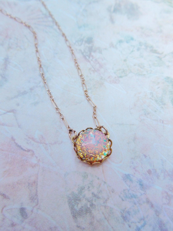 Custom Charm Bracelets Crystal Opal Necklaceopaltopaz