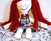 handmade cloth baby doll with a necklace - KIOSC