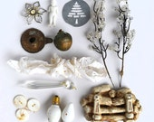 instant collection of objects christmas winter white holiday for your art  offered by Elizabeth Rosen - ElizabethRosenArt