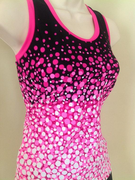 SALE Medium Black Pink Tennis Exercise Tank Top
