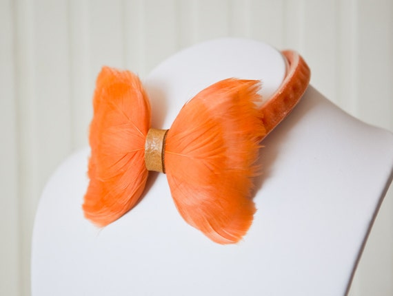 Our House feather bow tie > Indie Wed blog