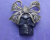 Black Resin Skull Pendant