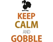 Instant Download Thanksgiving Holiday Keep Calm and Gobble Machine Embroidery Design in Multiple Sizes - embroiderystore