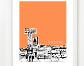 Boston Skyline Art Print - Fenway View - Boston Poster - City Art - 8x10 - BugsyAndSprite