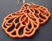 earrings- wings in orange