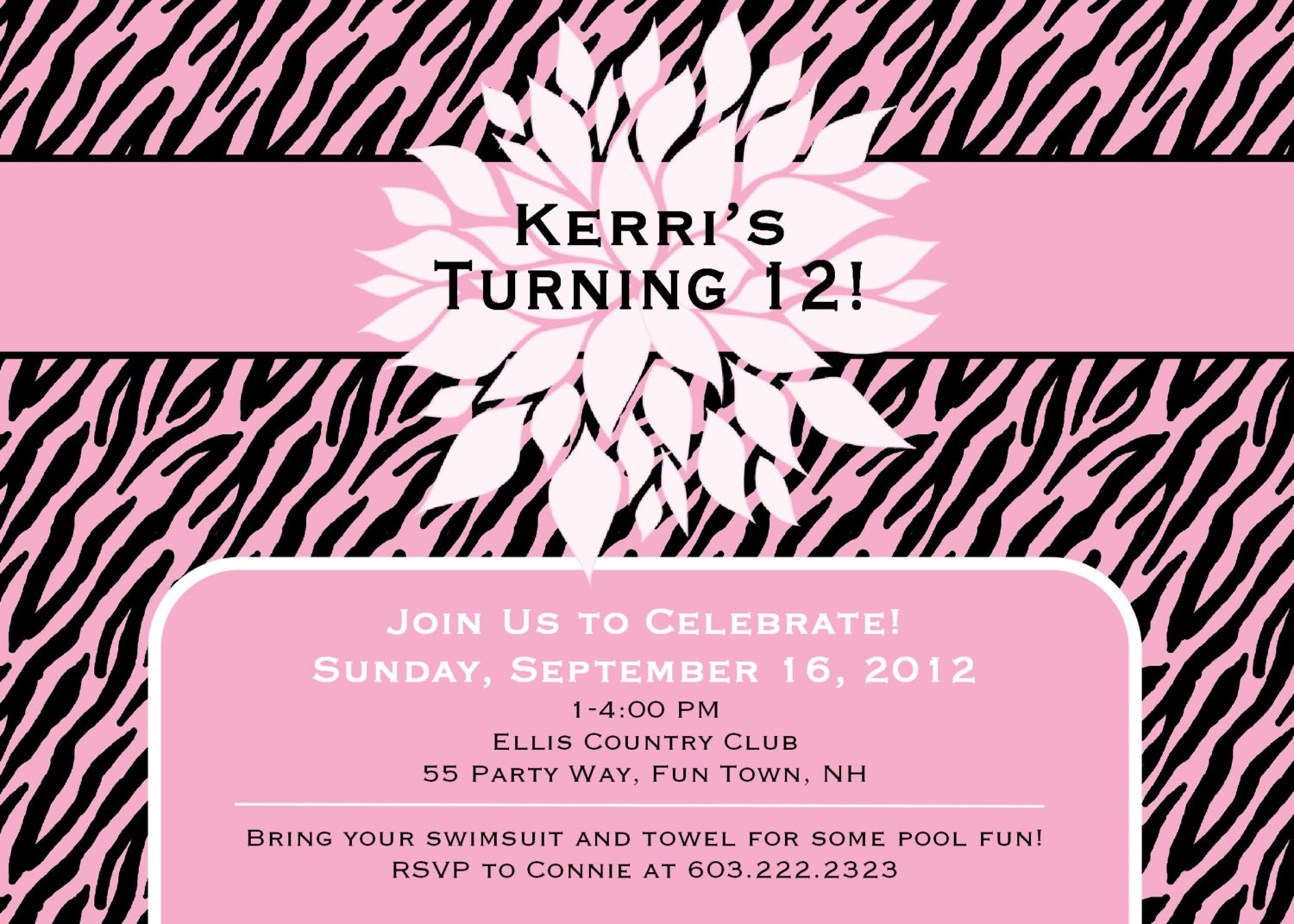 Birthday Invitation Cards For Teenagers einmaleinshaus – Teenage Girl Party Invitations