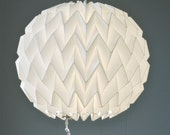BUBBLE: Origami Paper Lamp Shade - WHITE / FiberStore by Fiber Lab - FiberStore