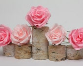 Wedding, wedding decor, wedding favors, wedding cake topper, cake topper, paper flowers, pink paper roses - FlowerDecoration