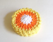 Halloween Crochet Coasters - Candy Corn - Halloween Decorations - Fall Home Decor - pomegranatefarm