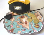 Pirate Hat, Pirate Map, Pirate Eye Patch. Pirate Adventure Set - MelsCreativeWishes