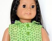American Girl Doll Green Skinny Leg Jeans Green amd Yellow Print Shirt Sneakers - JessieAmerica