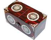 Lacquer ware inlaid new mother of pearl handcrafted jewelry case,jewel box trinket box