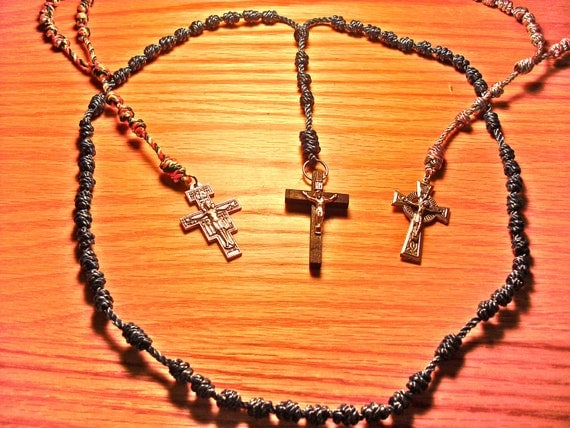 Hand-Made Knotted Rosary with Crucifix