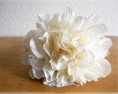 Bridal White Carnation Flower Headband, Wedding hair piece, bridal headpiece, hairband, head accessorie