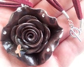 Stunning Chocolate Rose Necklace Jewelry - EleganceOfAntonio