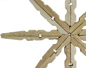 Clothespin Snowflake Ornament Upcycled Clothespin Ornament -Unique Christmas Decor  Gift Topper - FoundationCreations