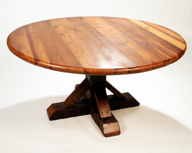11 best round reclaimed dining table tierra este. Black Bedroom Furniture Sets. Home Design Ideas