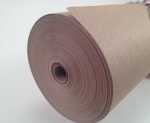 "Kraft Paper Roll - 24""x180'  - Perfect for wrapping Presents and Craft Projects"