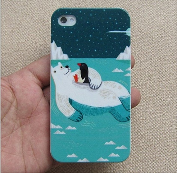 Polar bear iPhone 4 Case, iPhone 4s Case, iPhone Case, iPhone hard Case