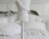 Elegant French White 2 Foot Tall Mannequin...Shows...Jewelry Display - Shabbyfufu