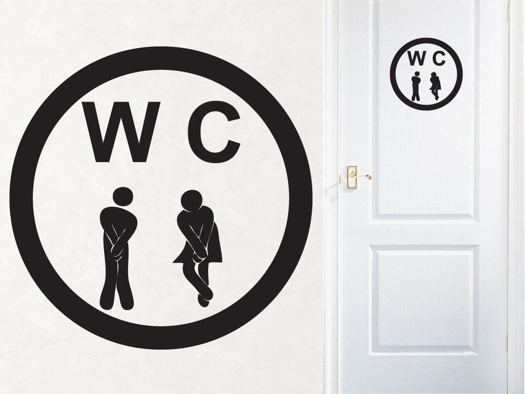 items similar to bathroom decor wc sign gotta go. Black Bedroom Furniture Sets. Home Design Ideas