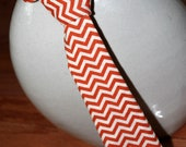 Orange Chevron Little Man Tie