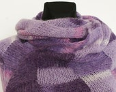 Purple Hand Knitted Stole - Anazie