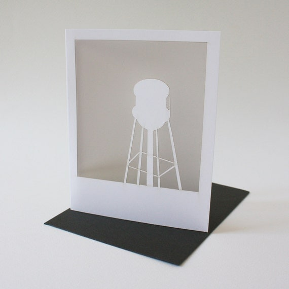 polaroid card : water tower