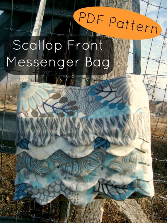 MESSENGER BAG Pattern PDF Bag Pattern Scallop front Download Now