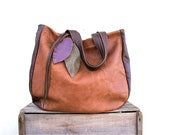 JOSEPHINE //Tote In Two Toned Brown Leather - arebycdesign