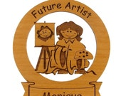 Future Artist Ornament Personalized with Your Child's Name - gclasergraphics