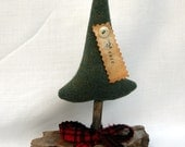 Peace Tree Ornie Primitive Christmas Wool Tree Ornament OFG Team SOCOFG Peace Pine