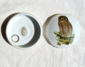 Antique Owl Treasure Box - Personalized Gift - Heirloom Quality Porcelain - MilestoneDecalArt