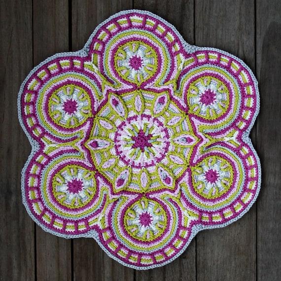 Crochet Overlay Mandala  No. 3 Pattern PDF
